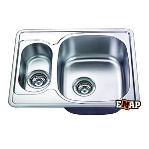 Врезные мойки: Мойка с двумя чашами ЕМ-5948