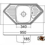 Мойки из нержавеющей стали под столешницу: Кухонная мойка из нержавейки ЕМАР 9550A фото 2
