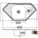 Врезные мойки: Кухонная мойка ЕМ-9550С фото 2