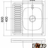 Накладные мойки: Мойка накладная ЕМ-6060 фото 2