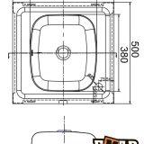 Накладные мойки: Накладная стальная мойка ЕМ-5050 фото 1