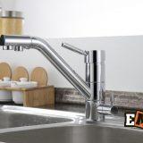Смесители из нержавейки: Кухонный смеситель хромированный ЕС-3008 фото 7