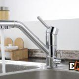 Смесители из нержавейки: Кухонный смеситель хромированный ЕС-3008 фото 8